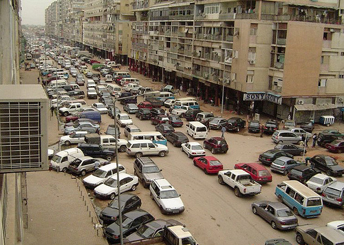 Traffic jam in Luanda. Photo uploaded on June 23, 2008 by Flickr user ,azeite