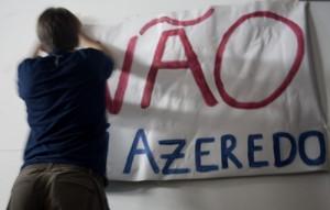 """""""Não, Azeredo"""", em São Paulo. Foto por Andre Deak, publicado sobre uma licença Creative Commons."""