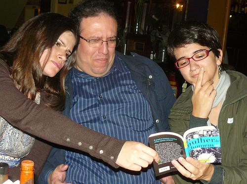 Friends, at the Mulher de Um Homem Só book launch in São Paulo