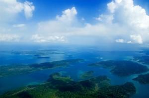 Vista aérea das Ilhas Andamão por Venkatesh K no Flickr.