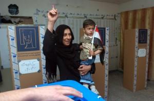 Foto #iraq10 exclusiva de centro de votação em  #Baghdad: www.mict-international.org/1a.jpg