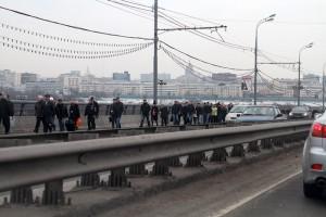 Muscovitas chegando aos seus locais de trabalho, foto de Nikolay Danilov (nl)