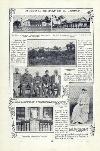 """Menção à rede de abastecimento de água do Hospital na """"Ilustração Portugueza"""", Dez. 1916, Blog Revista Antiga Portuguesa"""