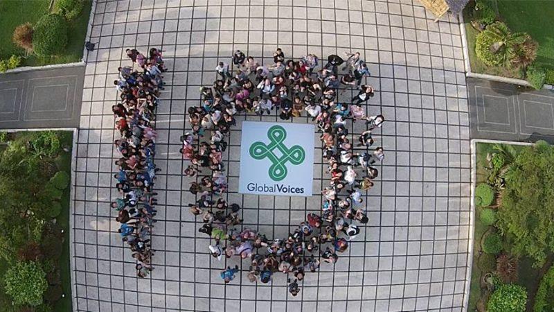 Global Voices celebra o 10º aniversário em Cebu, Filipinas. Janeiro de 2015.
