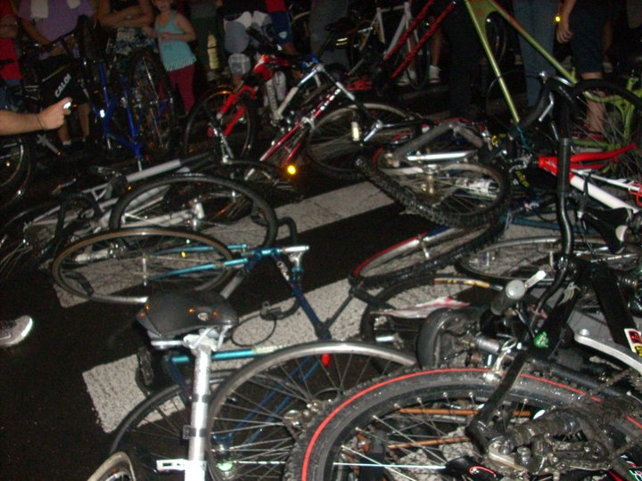 Bikes destroyed and scattered over the floor. Photo by Ivan Valente, used with author's permission