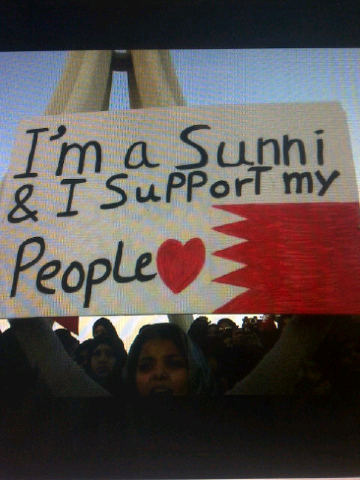 """I am a sunni & I support my people"""