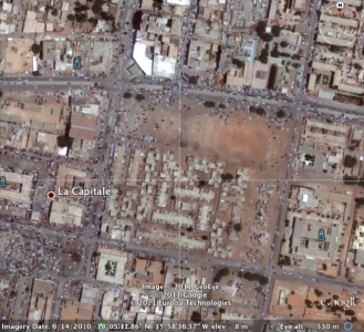 This is the spot protesters took over in Nouakchott, #Mauritania
