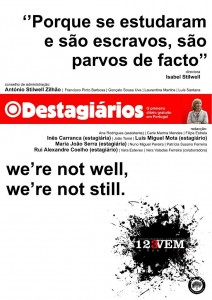 "Satire to Isabel Stilwell's article, on the Facebook page ""artº 21"" (article of the Portuguese Constitution which refers to the right to resist)"