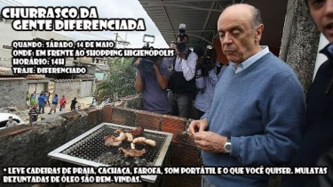 José Serra, former governor of São Paulo and former presidential candidate, from the right-wing party Brazilian Social Democracy (PSDB), at a Churrascão barbeque. Photo by Flick user Mark Hillary (CC BY 2.0).