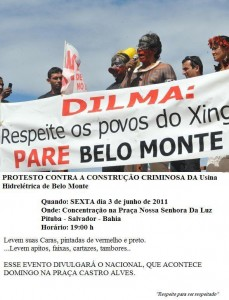 Dilma: Respeite os povos do Xingu, PARE Belo Monte