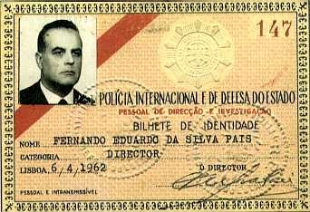 Identity card of the director of PIDE. Image from the public domain