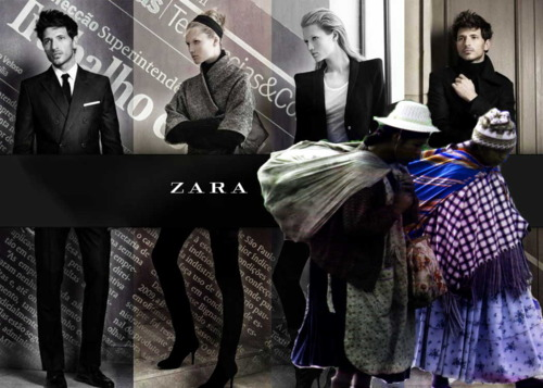 Image by Francisco Mendes (@metalogis) on Tumblr, related with denouncements of slave work in Zara (August 2011)