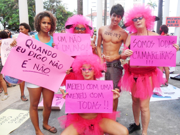 """SlutWalk"" in Recife. Photo by Adalberto Rodrigues (@Rodriigues_jr) on Twitpic"