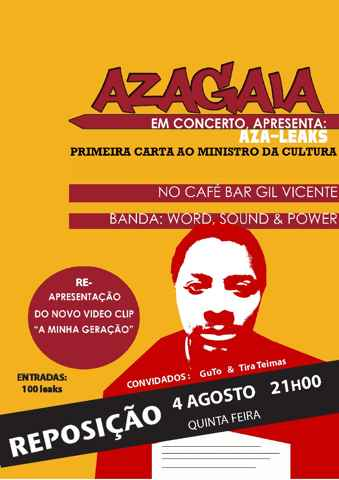 Poster for the replacement of the presentation of Azagaia's new album