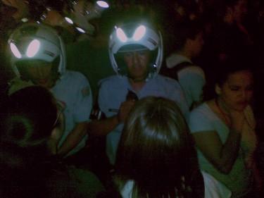 Alunos da USP solicitam a saída da polícia militar do campus. Foto do autor