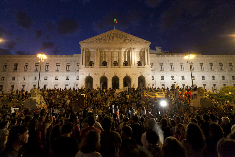 Occupy Lisbon Begins (15/10/2011). Photo by Fernando Mendes copyright Demotix.