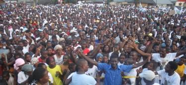 Campanha eleitoral em Quelimane. Foto de Rui Lamarques (cortesia do Jornal @Verdade)