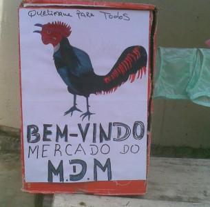 """""""Bem-Vindo Mercado do MDM"""" - No Mercado do Akima (Quelimane). Foto de Dercio Taveira no Facebook"""