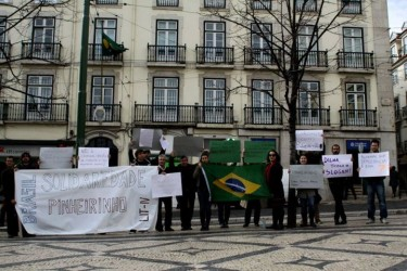 Protest in Lisbon. Photo by Soraya Barret, used with permission