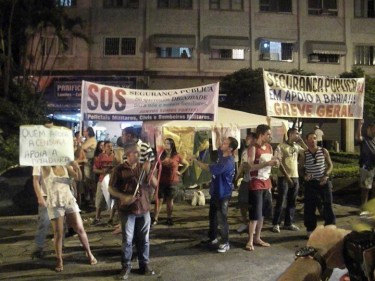 Activists support the hunger strike of Pedro Leão. Photo by Pedro Leão, free use.