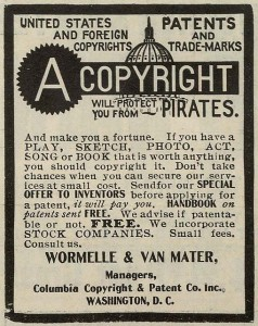 """A copyright will protect you from pirates. And make you a fortune."" Photo of a promotional flyer by Ioan Sameli on Flickr (CC BY-SA 2.0)"