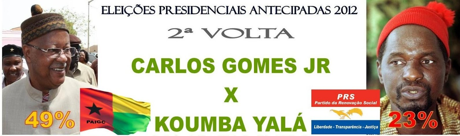 Early presidential elections, 2012. In the second round Carlos Gomes Junior will stand against Kumba Ialá. Images from the blog Ditadura do Consenso (used with permission).
