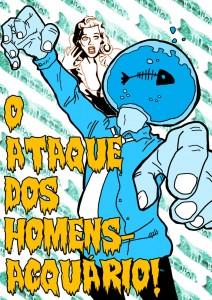 The attack of the Aquarium Men. Illustration by Yuri Leonardo, used with permission.