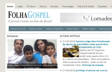 According to Bocchini brothers, the website Folha Gospel is one of the sites that uses a similar logo clearly inspired on Folha de São Paulo's without been sued.