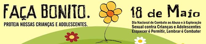 Selo do Dia Nacional de Combate ao Abuso e à Exploração Sexual de Crianças e Adolescentes.