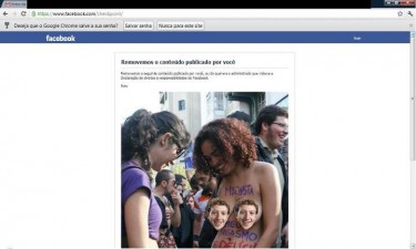 "Photo of Luka Franca deleted by Facebook and jokingly posted ""censored"", by Pedrão Nogueira."