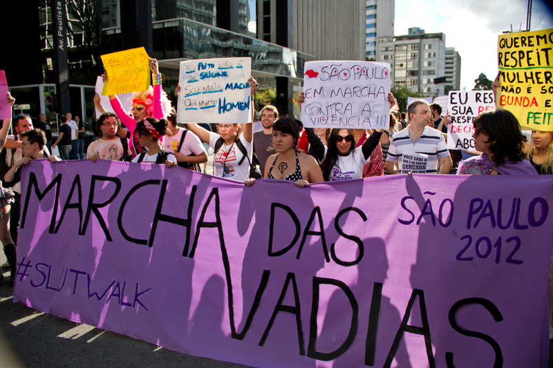 SlutWalk São Paulo 2012. Photo by Renato Batata copyright Demotix (26/05/2012)