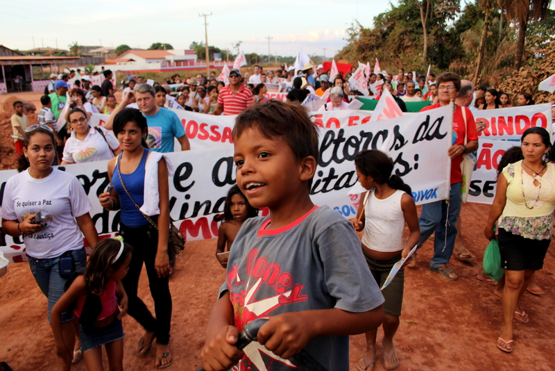 Protesters against the Belo Monte dam, Altamira. Photo by K. L. Hoffmann copyright Demotix (19/08/2011)