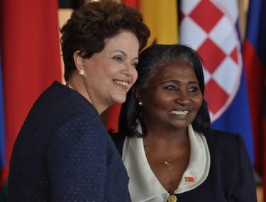 President Dilma Rousseff with the Ambassador of Guinea-Bissau, Eugénia Pereira Saldanha Araújo, 2011. Photo Germano Corrêa/MRE on Flickr (CC BY-NC-SA 2.0)