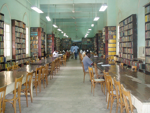 Khartoum University Library, Sudan. Photo by Book Aid International on Flickr (CC BY-NC-ND 2.0)