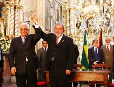 Lula da Silva e Mahmoud Abbas: Brasil e Palestina discutem em Salvador acordo de paz para Oriente Médio, 2009. Foto de Secom Bahia no Flickr (CC BY 2.0)
