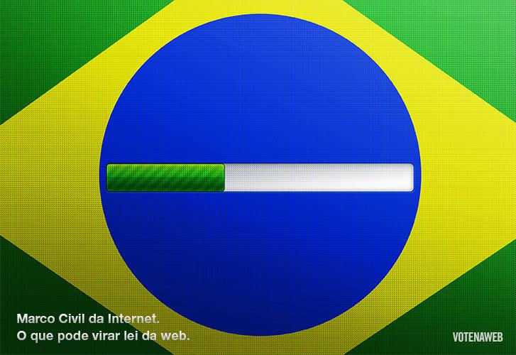 Infografia sobre o voto dos cidadãos online no Marco Civil, por Vote na Web.