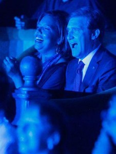 "Pedro Passos Coelho and his wife on the night on which the new austerity measures were announced. Image shared on the ""Tugaleaks"" Facebook page"