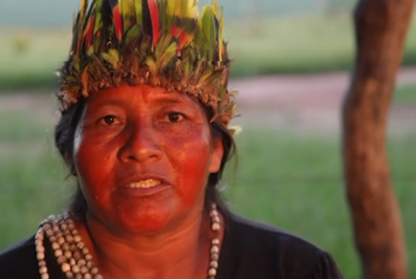 Denunciation of death threats by an indigenous representative of the women of MS in the video Salutations Dilma! Those who are about to die salute you.