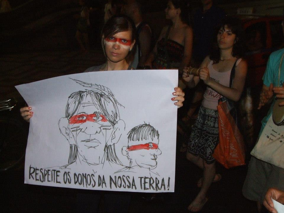 Demonstration in Porto Alegre. Phto by Alex Haubrich, used with permission.