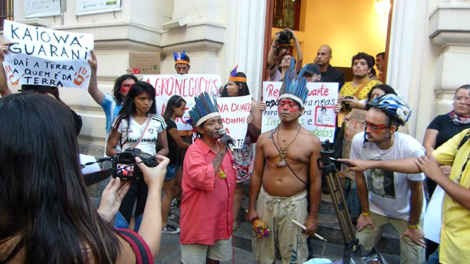 Demonstration in Rio de Janeiro. Photo by Rossanna Pinheiro. Photo used with permission.
