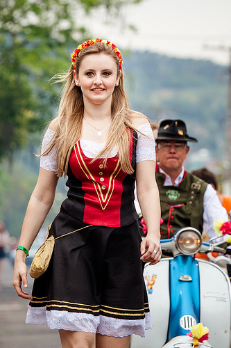 Celebration of Oktoberfest by the German community in Rio Grande do Sul. Photo by Pedro Rocha on Flickr (CC BY-NC-SA 2.0)