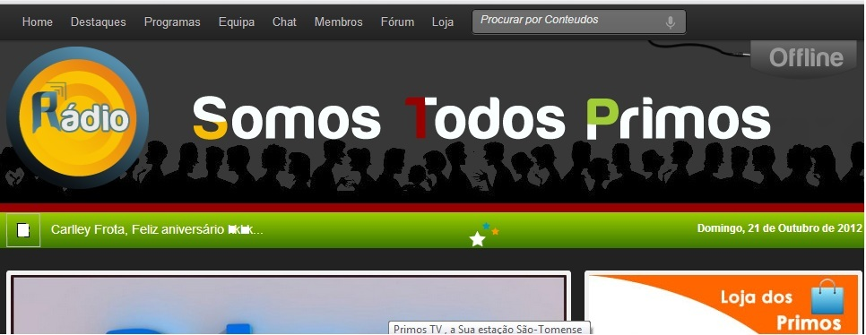 """At the moment we use the platform Listen2myradio to broadcast our radio, but we will soon be launching our official portal SomosTodosPrimos.net where people will be able to enjoy a diverse range of content. """
