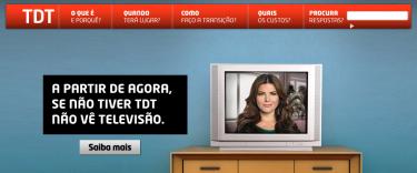Screenshot da página TDT da Portugal Telecom.