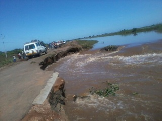 Floods in Chókwè. Photo by Jornal @Verdade
