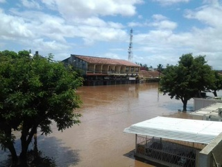 Flooding in the city of Xai-Xai, capital of the Gaza province in southern Mozambique. Photo by Jornal @Verdade