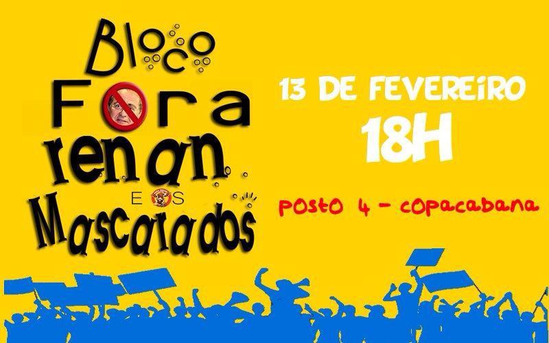 Bloco Fora Renan e os Mascarados