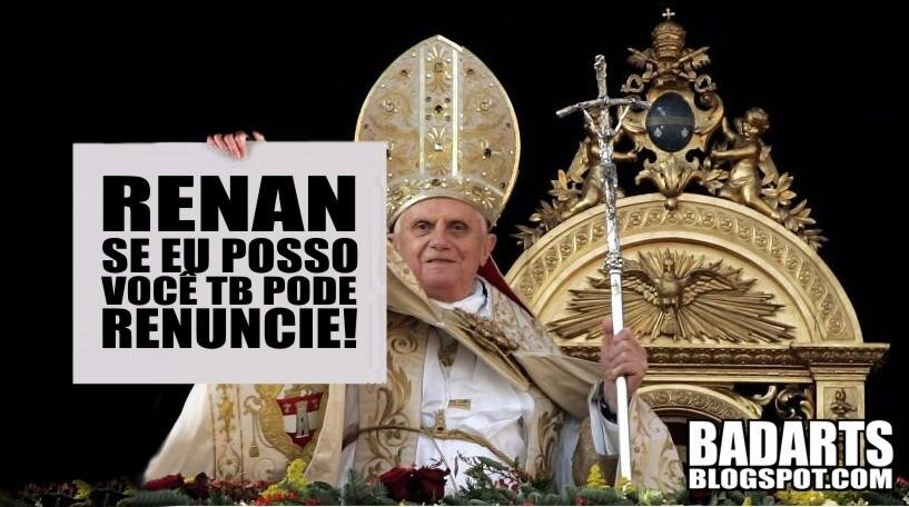 The Pope sends a message to Renan