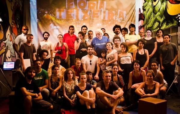 Foto do encontro Preliminares na Casa Fora do Eixo, em São Paulo.
