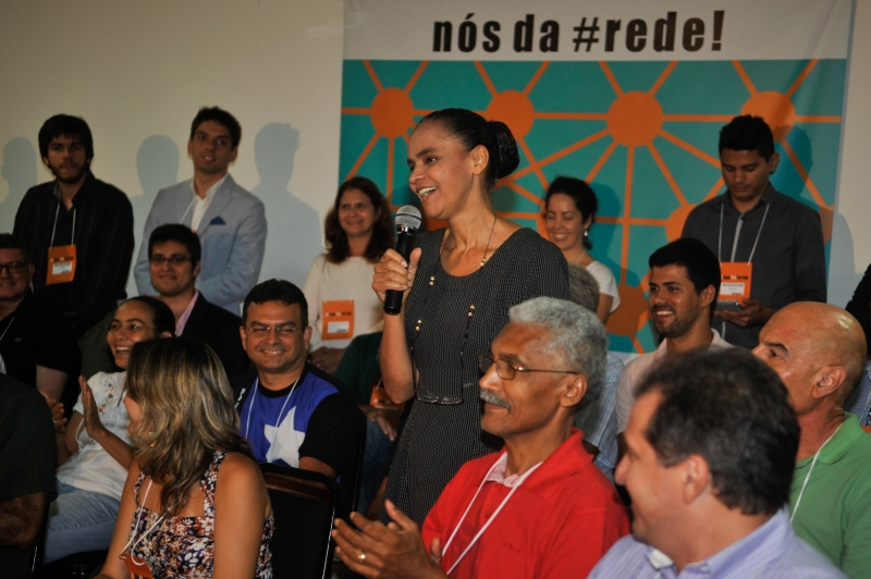 Brasilia - Former Senator Marina Silva speaks at the launch of her new party. Photo from José Cruz/Agencia Brasil (CC BY 3.0)