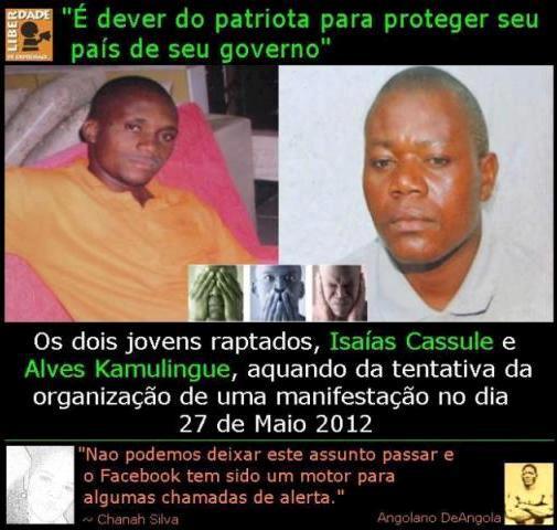 Imagem partilhada por Bloco Democrático de Angola no Facebook.